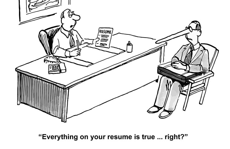 WARNING: Avoid Stretching the Truth on Your CV